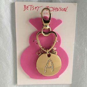 """Betsey Johnson """"A"""" Key Fob"""